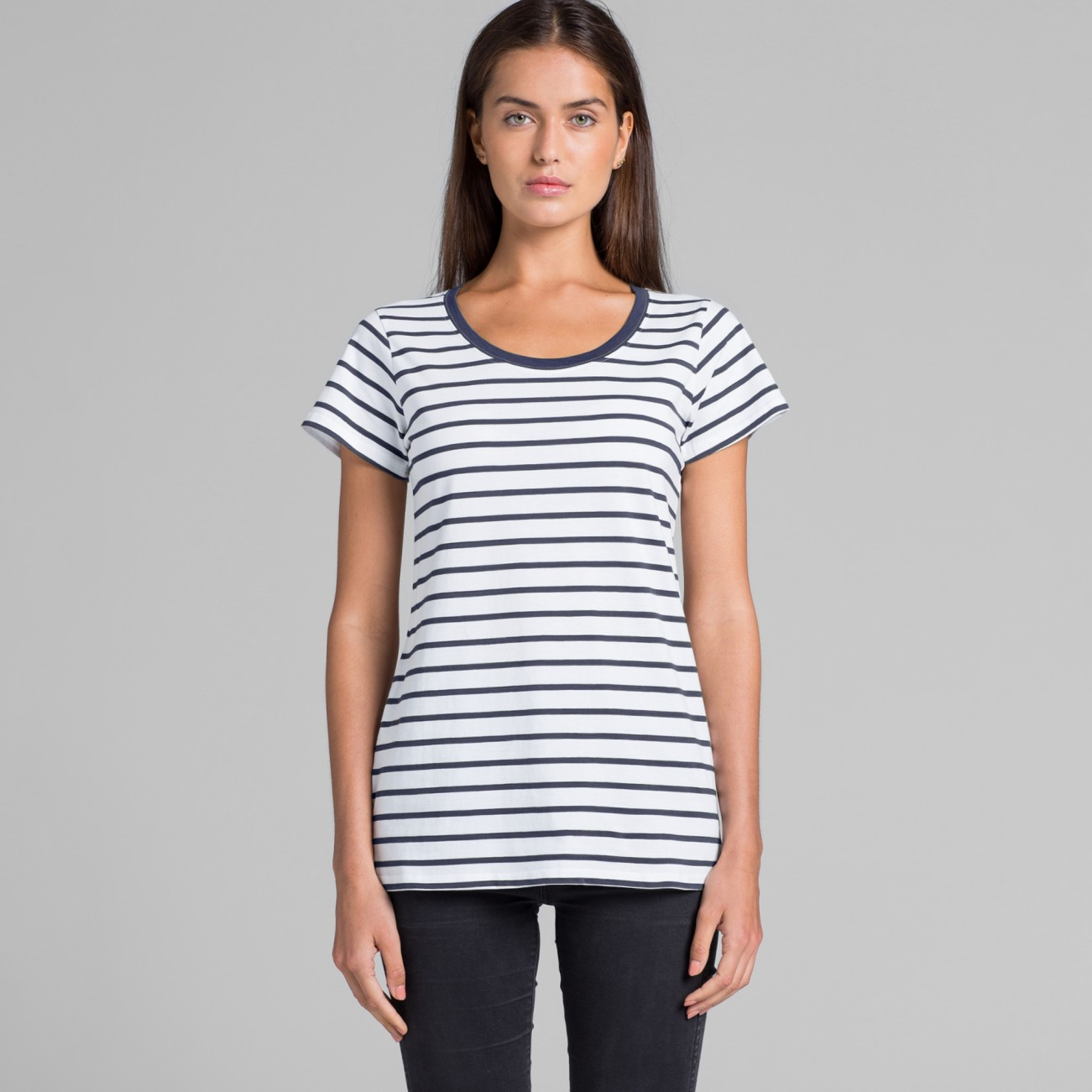 4023 WOMENS LOOP STRIPE TEE