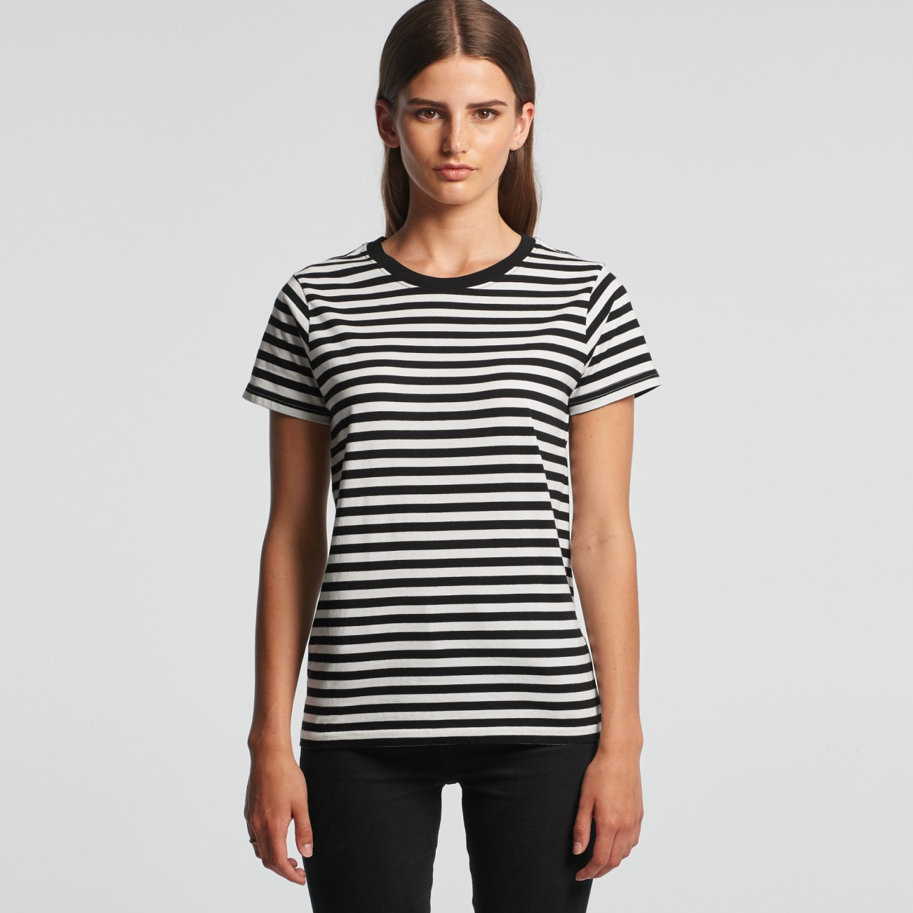 4037 WOMENS MAPLE STRIPE TEE