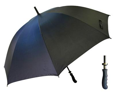 T17 Black Monsoon Umbrella / Rubber Handle