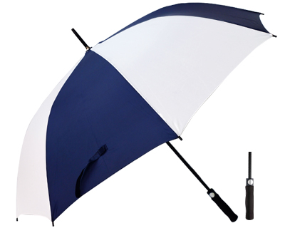 T20 Navy+White Umbrella / Push Button Handle