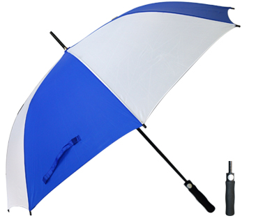 T20 Royal+White Umbrella / Push Button Handle