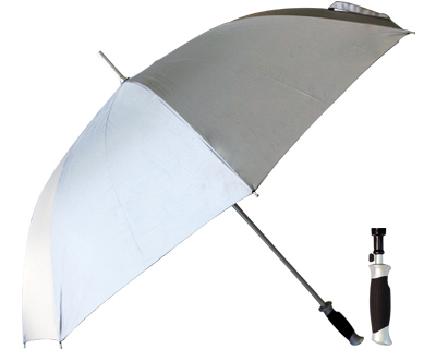 T21 Silver Lightweight Aluminium Umbrella / Push Button Handle