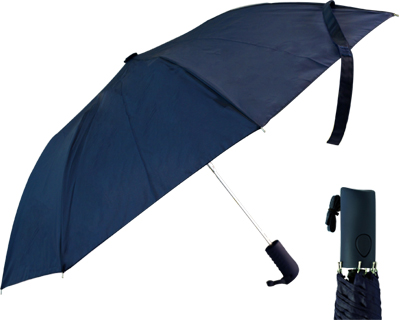 T22 Navy Collapsible Umbrella / Push Button Handle