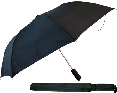 T22 Black Collapsible Umbrella / Push Button Handle