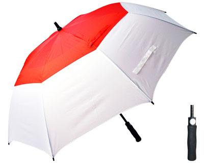 T31 Red+White Typhoon Umbrella / Push Button Handle