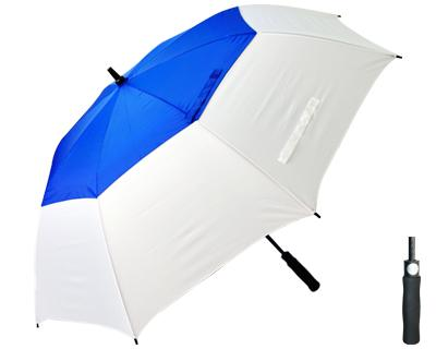 T31 Royal+White Typhoon Umbrella / Push Button Handle