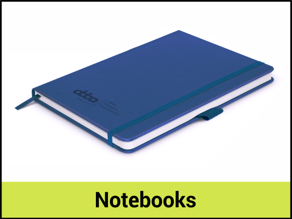PROMOTIONAL NOTEBOOKS - EMBOSSED - DEBOSSED - PAD PRINTED 2