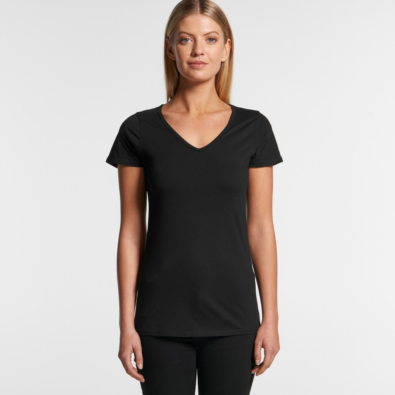 4010 WOMENS BEVEL V-NECK TEE