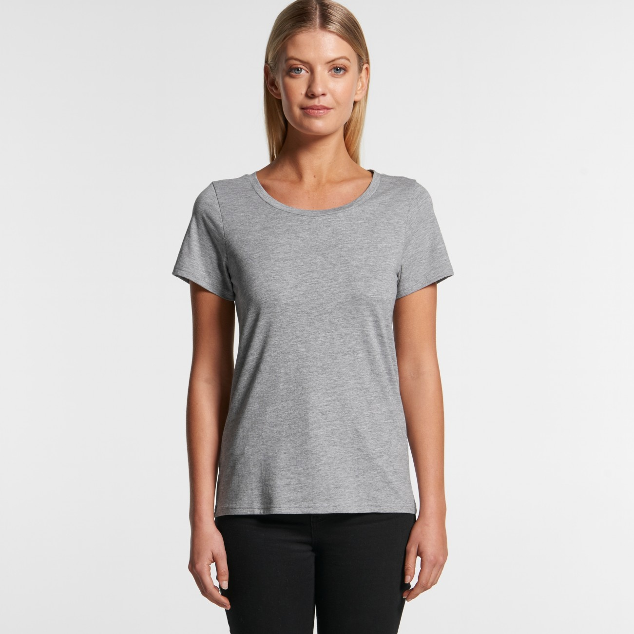 4011 WOMENS SHALLOW SCOOP TEE