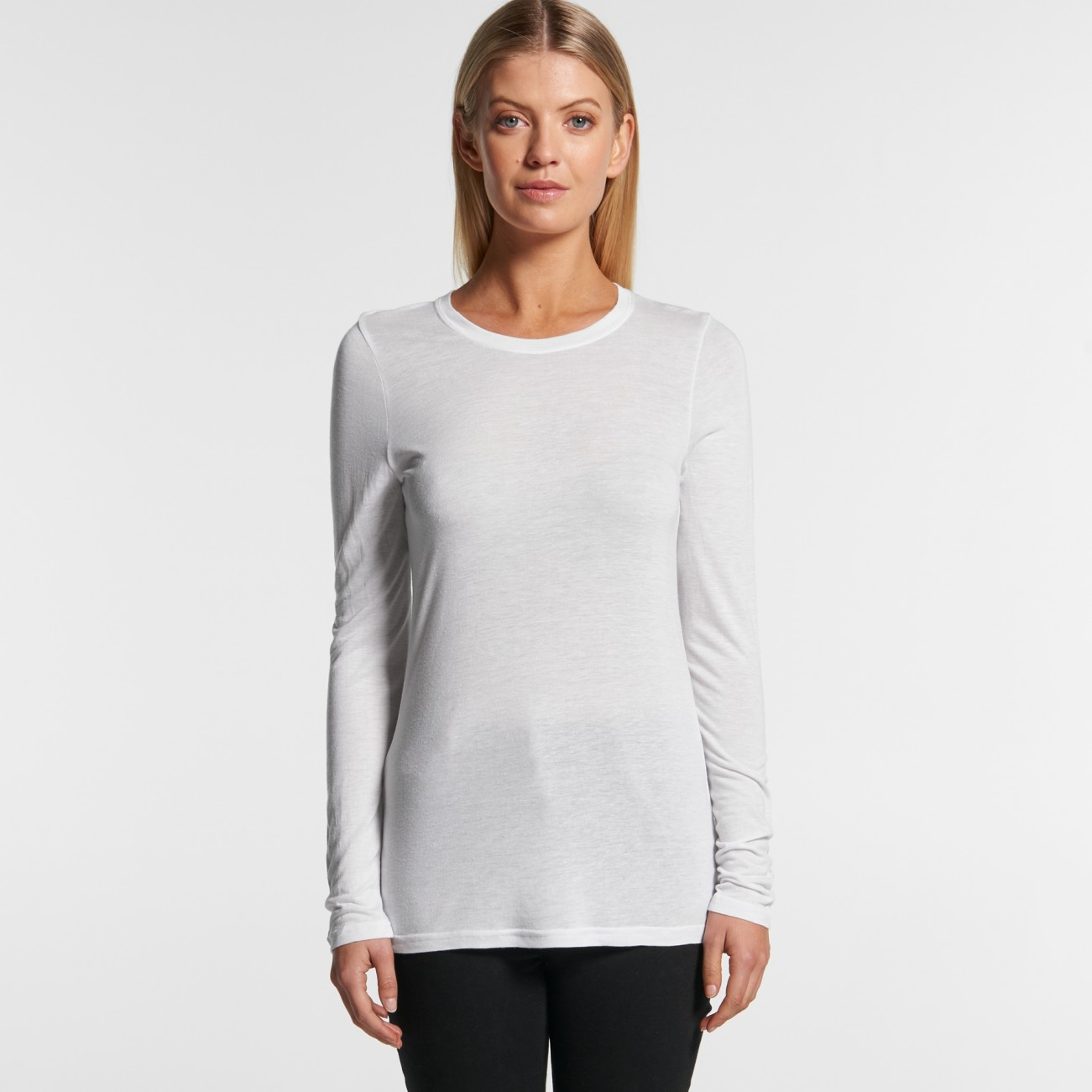 4026 WOMENS FINE LONG SLEEVE TEE