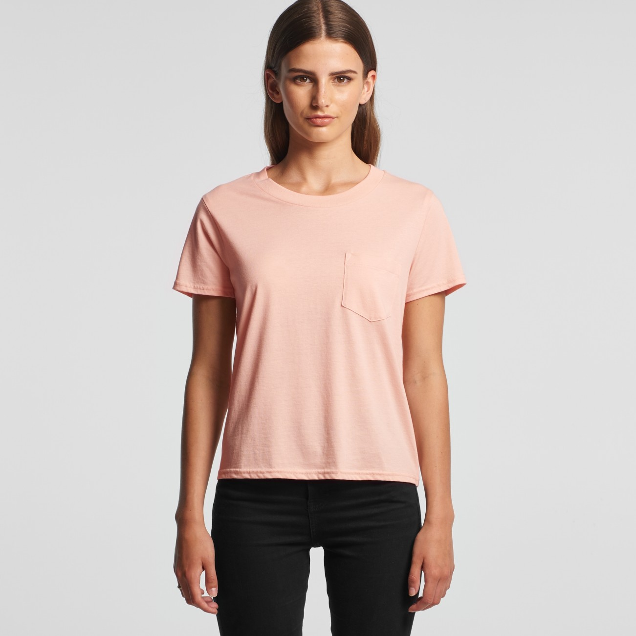 4046 WOMENS SQUARE POCKET TEE