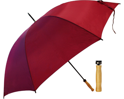 T19 Burgundy Umbrella / Wood Handle