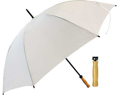 T19 White Umbrella / Wood Handle