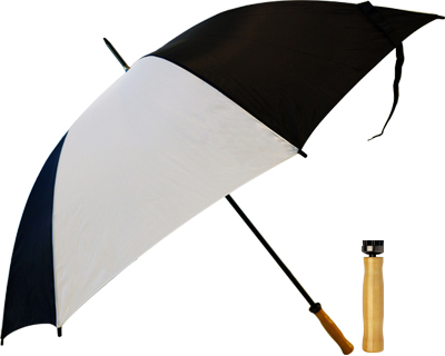 T19 Black+White Umbrella / Wood Handle