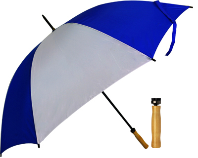 T19 Royal+White Umbrella / Wood Handle