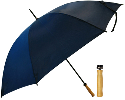 T19 Navy Umbrella / Wood Handle