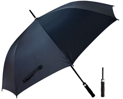 T20 Black Umbrella / Push Button Handle