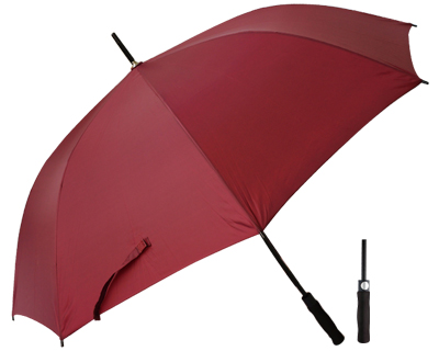 T20 Burgundy Umbrella / Push Button Handle