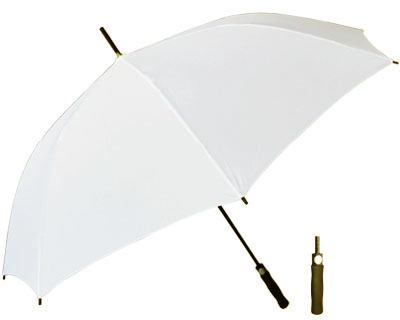 T20 White Umbrella / Push Button Handle