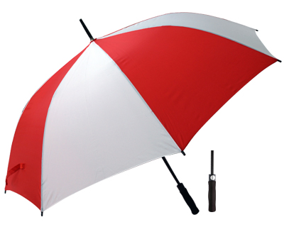 T20 Red+White Umbrella / Push Button Handle