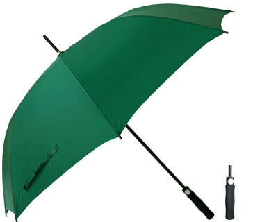 T20 Green Umbrella / Push Button Handle