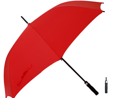 T20 Red Umbrella / Push Button Handle