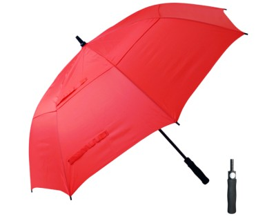 T29 Red Cyclone Umbrella / Push Button Handle