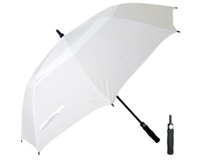 T29 White Cyclone Umbrella / Push Button Handle